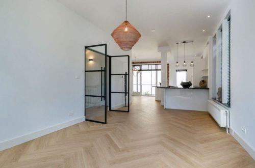 Dubbele stalen binnendeur in moderne woning